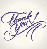 THANK YOU hand lettering (vector) — 图库矢量图片