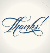 THANKS hand lettering (vector) — Stock Vector