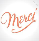 MERCI hand lettering (vector) — Stock Vector