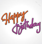 HAPPY BIRTHDAY hand lettering (vector) — Stock vektor