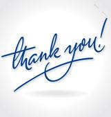 Sana el yazı teşekkür ederim (vektör) — Stok Vektör