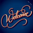 WELCOME hand lettering (vector) — Stock Vector