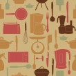 Vector illustration seamless pattern of kitchen tools for cookin — Stock Photo #10199618