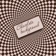 Retro vintage grunge hypnotic CHOCOLATE background.vector illust — Стоковая фотография