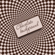 Retro vintage grunge hypnotic CHOCOLATE background.vector illust — Foto Stock
