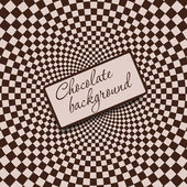 Retro vintage grunge hypnotic CHOCOLATE background.vector illust — Stock Photo