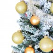 Christmas tree isolated on white — Foto de Stock