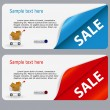 Sale banner with place for your text. vector illustration - Stock fotografie