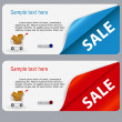 Sale banner with place for your text. vector illustration - Stok fotoğraf