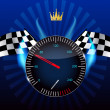 Stock Photo: Checkered flag, speedometer. Vector Illustration.
