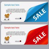 Banner in vendita con posto per il vostro testo. illustrazione vettoriale — Foto Stock