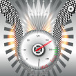 Checkered flag, speedometer. Vector Illustration. - ストック写真