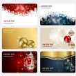 Set of cards with Christmas BALLS, stars and snowflakes, illustr — Stock Photo #12749074