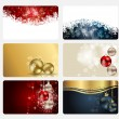 Set of cards with Christmas BALLS, stars and snowflakes, illustr — Stock Photo #12749231