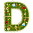 Abstract beauty Christmas and New Year abc. vector  illustration — Foto de Stock
