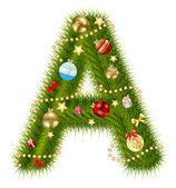 Abstract beauty Christmas and New Year abc. vector illustration — 图库照片