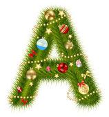 Abstrakta skönhet jul och nyår abc. vektor illustration — Stockfoto