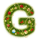 Abstract beauty Christmas and New Year abc. vector illustration — Stockfoto
