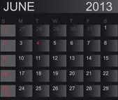 Calendar 2013. June. Vector Illustration — Stock Photo