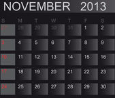 Calendar 2013. November. Vector Illustration — Stock Photo