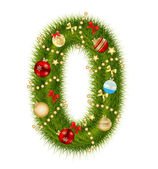Christmas alphabet number vector illustration — Stock Photo