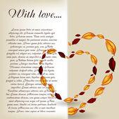 Cartão de dia dos namorados com ilustração vetorial de coração — Fotografia Stock