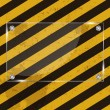 Glass frame on grunge striped cunstruction background vector ill — Stock Photo