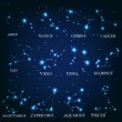 Zodiac signs vector illustration - Stock Photo