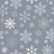 Winter christmas new year seamless pattern, beautiful texture with snowflakes — Stock Photo #13148488