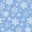 Winter christmas new year seamless pattern, beautiful texture with snowflakes — Stock Photo #13148596