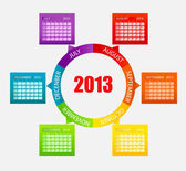 Calendar 2013. Part 2. Vector Illustration — Stock Photo