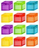 Calendar 2013. Vector Illustration — Stock Photo