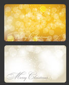 Set of cards with Christmas BALLS, stars and snowflakes, illustr — Stock Photo