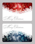 Set of vector christmas. New Year banners (cards) — Stockfoto
