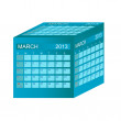 Calendar 2013. March. Vector Illustration — Stock Photo