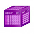 Calendar 2013. January. Vector Illustration — Stock Photo
