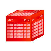 Calendar 2013. May. Vector Illustration — Stock Photo