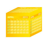 Calendar 2013. April. Vector Illustration — Stock Photo
