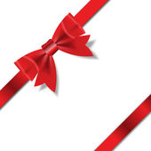 Red Gift Ribbon . Vector illustration — Stock Photo