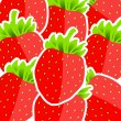 Background from strawberries vector illustration — Stock Vector