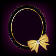 Vintage frame with bow vector illustration — Stock Photo #13347509