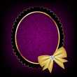 Vintage frame with bow vector illustration — Stockfoto