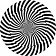 Black and white hypnotic background. vector illustration — Foto de stock #13355539