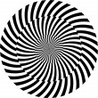 Black and white hypnotic background. vector illustration — 图库照片 #13355539