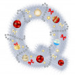 Abstract beauty Christmas and New Year abc. vector illustration — 图库照片 #13358662