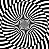Black and white hypnotic background. vector illustration — Photo