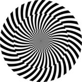 Black and white hypnotic background. vector illustration — Stock Photo
