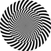 Noir et blanc fond hypnotique. illustration vectorielle — Photo