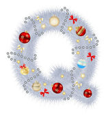 Abstract beauty Christmas and New Year abc. vector illustration — Stock Photo