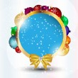 Stock Photo: Abstract Christmas and New Year frame background. vector illust